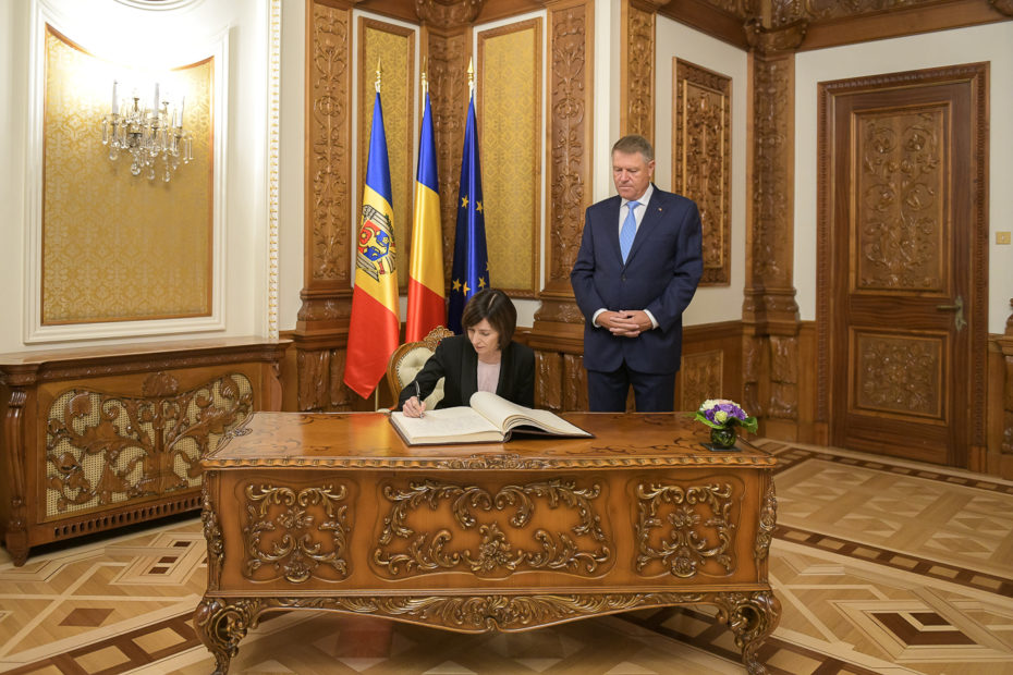 Maia Sandu, on an official visit in Bucharest: