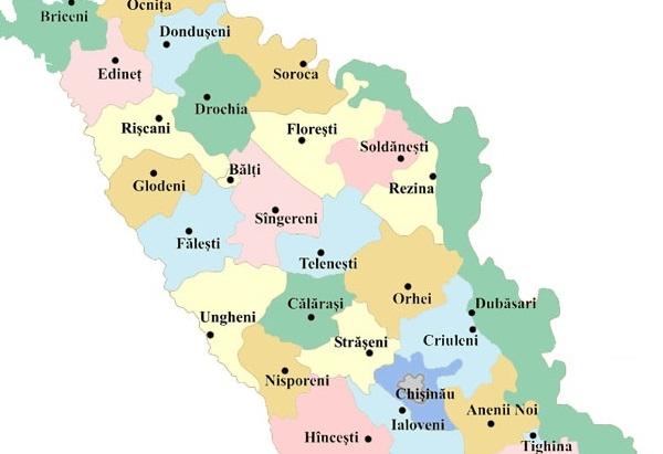 Harta Moldovei Moldova Org